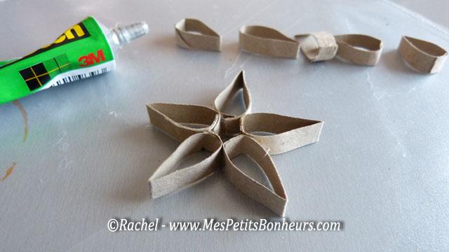 bricolage couronne de no l avec des rouleaux en carton de papier toilette. Black Bedroom Furniture Sets. Home Design Ideas