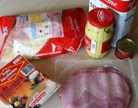 pâte feuilletée et autres ingrédients