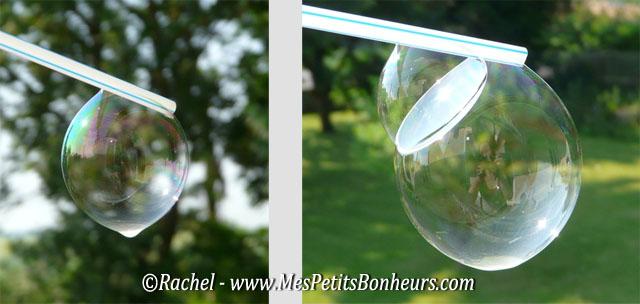 bulle de savon avec une paille