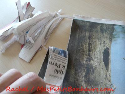 Bricolage facile colle maison et vide poche en papier mach - Bricolage en papier journal ...