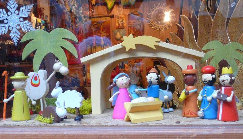 Decoration de noel creche et village