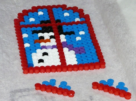 D co no l hama bricolage enfant d coration de table en perles coll es - Perle hama noel ...