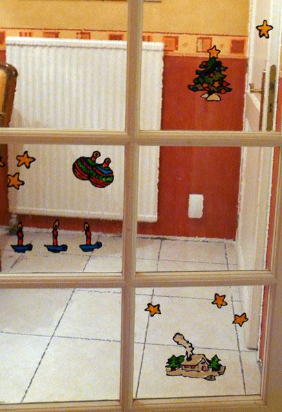Bricolage no l d cor de fen tre pour enfants technique for Decoration noel fenetre fabriquer