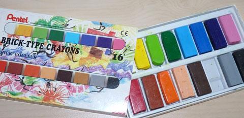 batons de cire art plastique coloriage