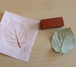 empreinte de feuille art visuel automne brun