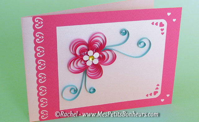 Exceptionnel Cartes fête des mères avec fleur en relief en quilling CZ29