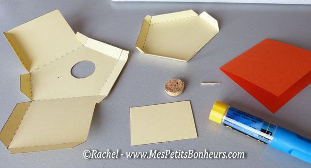 bricolage papier cabane à oiseau