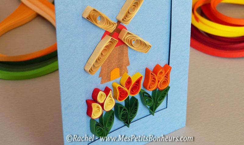 carte fleurs quilling