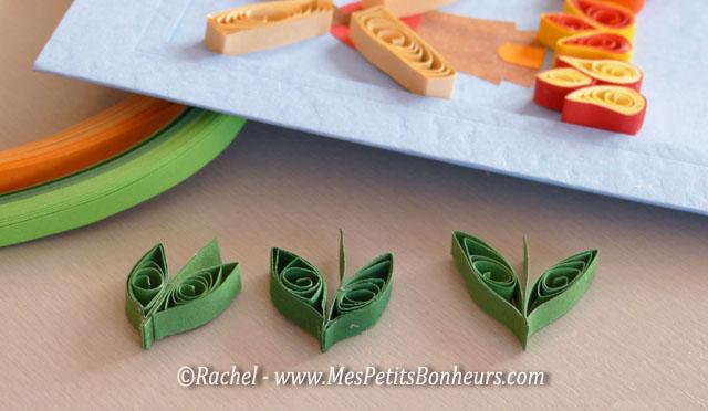 feuilles en quilling