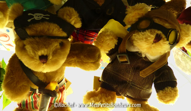 nounours pirate et aviateur