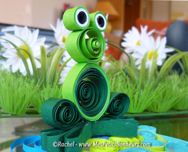 quiling grenouille 3d