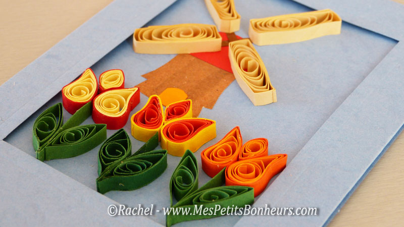 tulipes et moulin quilling