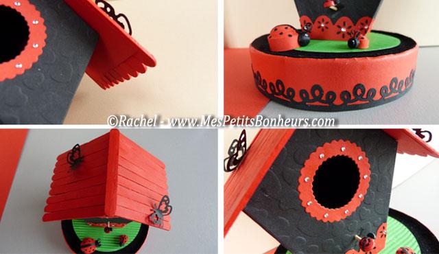 bricolage nichoirs en papier cabanes de toutes les couleurs. Black Bedroom Furniture Sets. Home Design Ideas