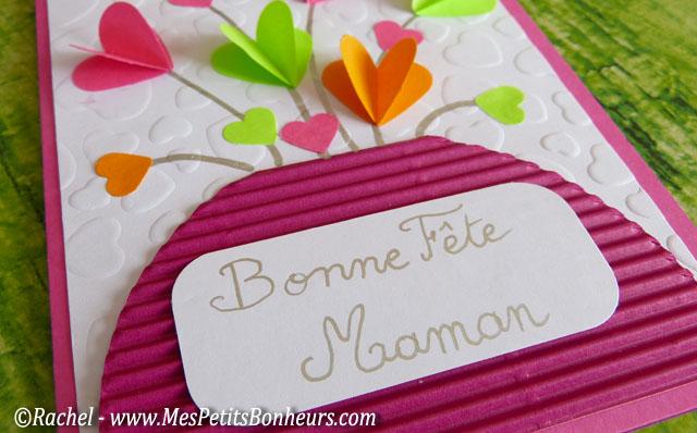 bonne fete maman étiquette sur carte
