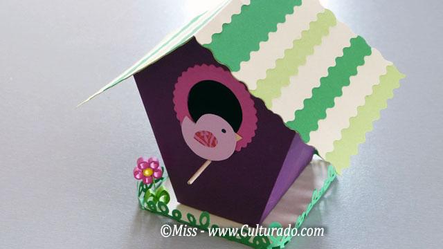 Bricolage nichoirs en papier cabanes de toutes les couleurs for Bricolage maison