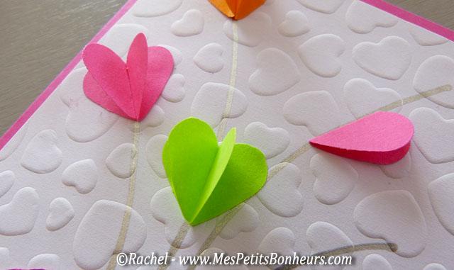 bricolage fleurs coeurs fete des mamans