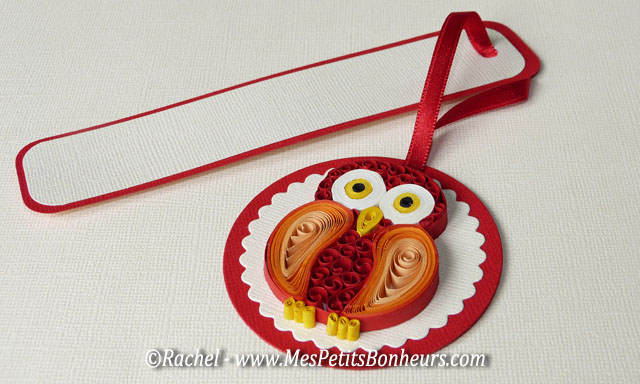 marque page chouette en quilling