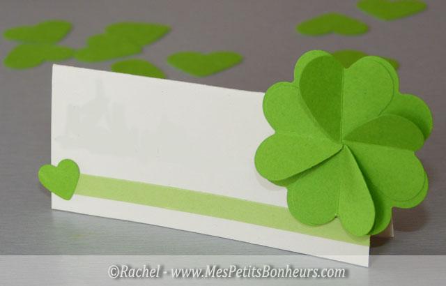 marque place vert et blanc trefle coeurs