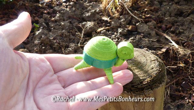 petite tortue en quilling