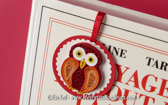 quilled owl for bookmark craft