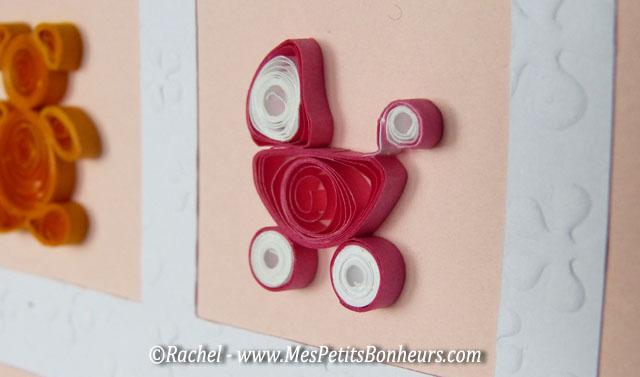 quilling carte de f licitations pour la naissance d une petite fille. Black Bedroom Furniture Sets. Home Design Ideas