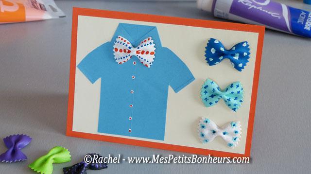 carte fête des pères à fabriquer – chemise et noeuds papillon