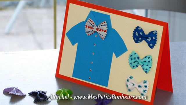 Carte fête des pères à fabriquer - chemise et noeuds papillon