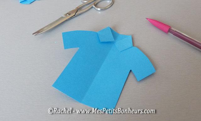 chemise en papier pour fete des pères