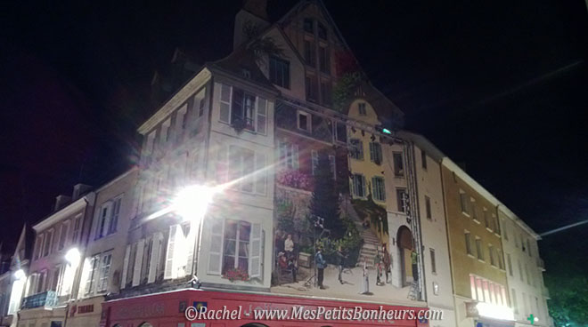 Chartres Fresque Scene de tournage