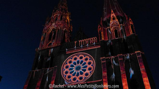 Chartres en Lumières construction de la Cathédrale