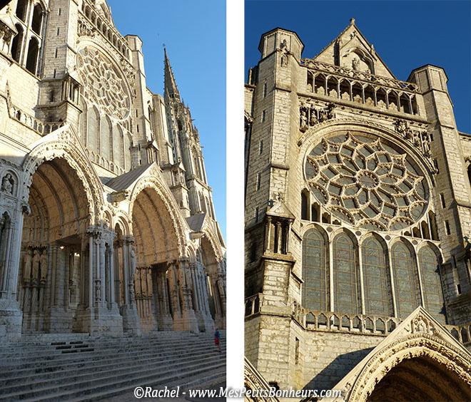 Chartres facade gauche de la cathedrale
