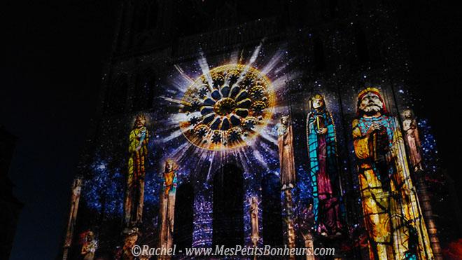 chartres en lumieres sur la cathedrale personnages