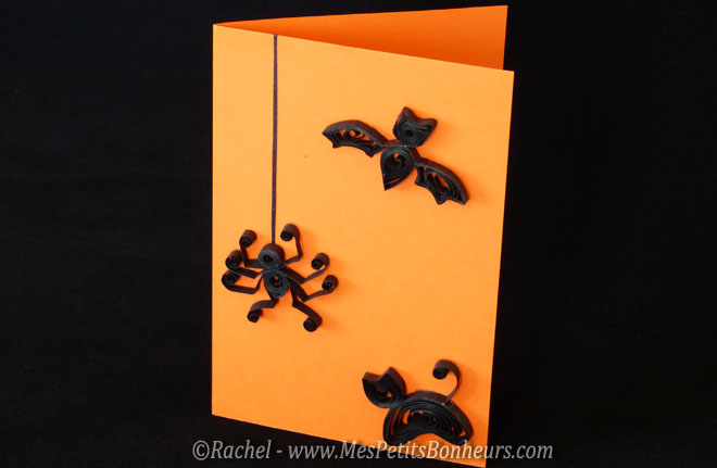 carte halloween décor quilling