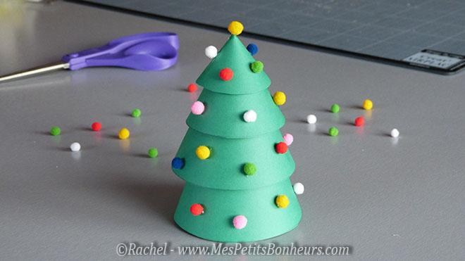 Bricolage enfant pour no l sapin en c nes de papier - Activite noel pour tout petit ...