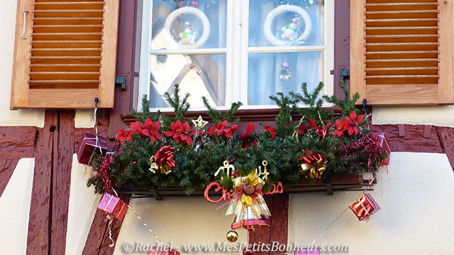 Village decoration noel alsace