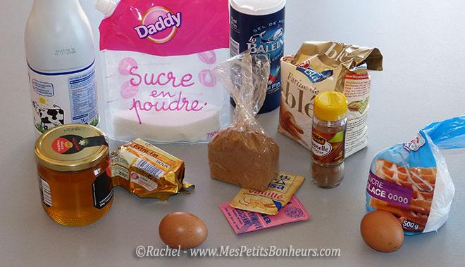 ingredients pains d'épices biscuits