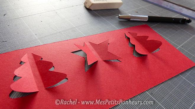 relief kirigami sapin etoile noel