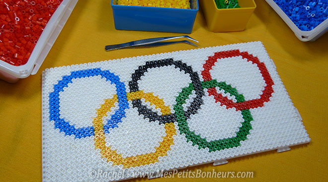 modele perles a repasser drapeau jeux olympiques