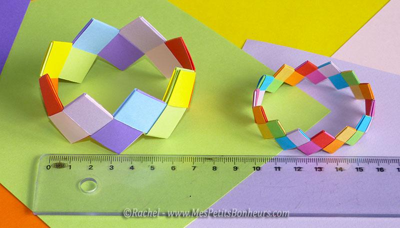 Fabriquer un bracelet en origami