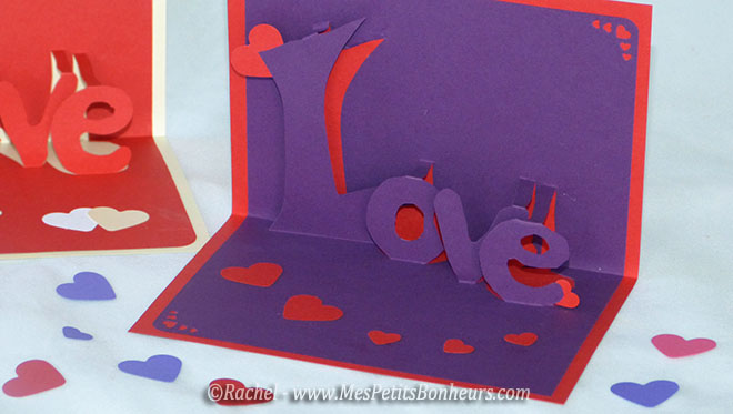 carte love 3d kirigami