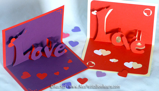 carte love 3d kirigami imprimer pour la saint valentin. Black Bedroom Furniture Sets. Home Design Ideas