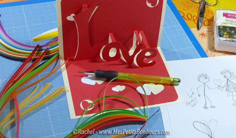 materiel quilling pour carte love