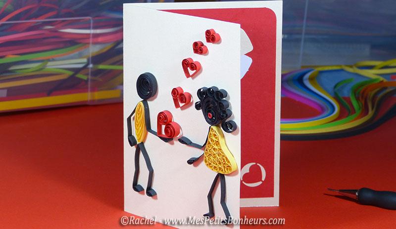 modele quilling saint valentin amour