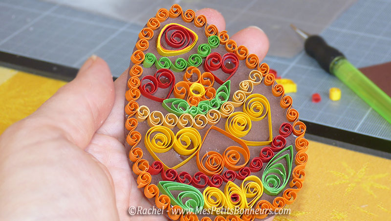 quilling oeuf de paques chocolat