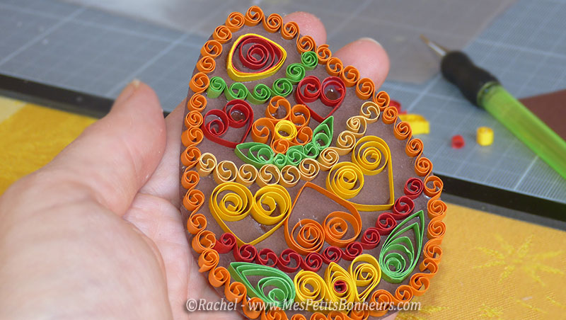 quilling oeuf de paques