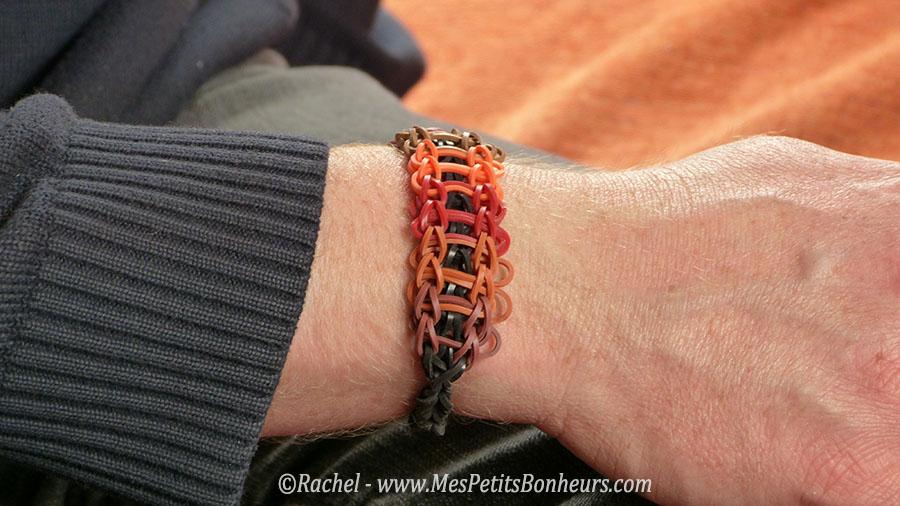 bracelet rainbow loom pour homme