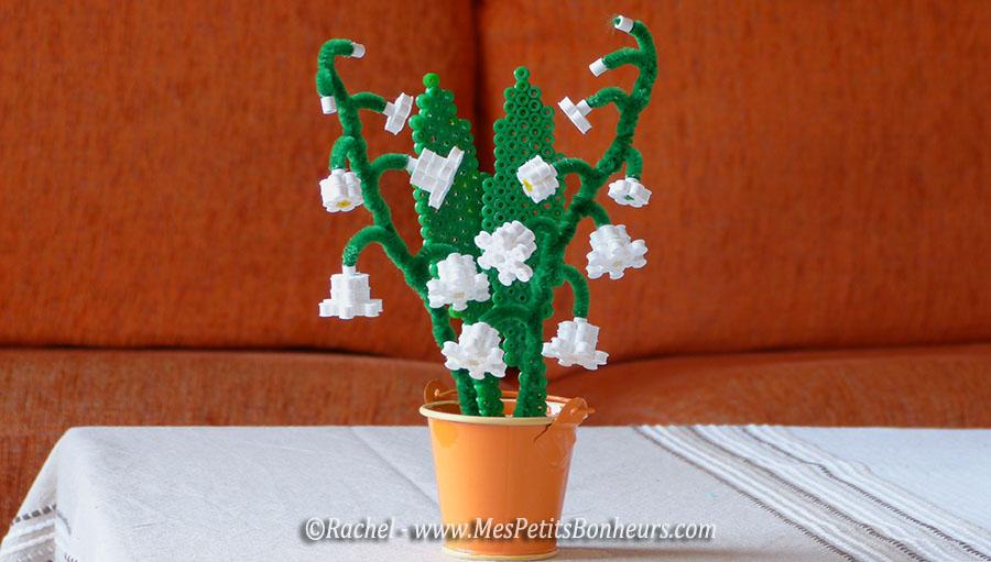 bricolage bouquet muguet volume perles a repassser 3d
