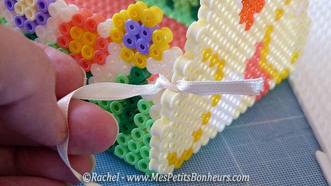 bricolage panier perles hama nouer les cotés