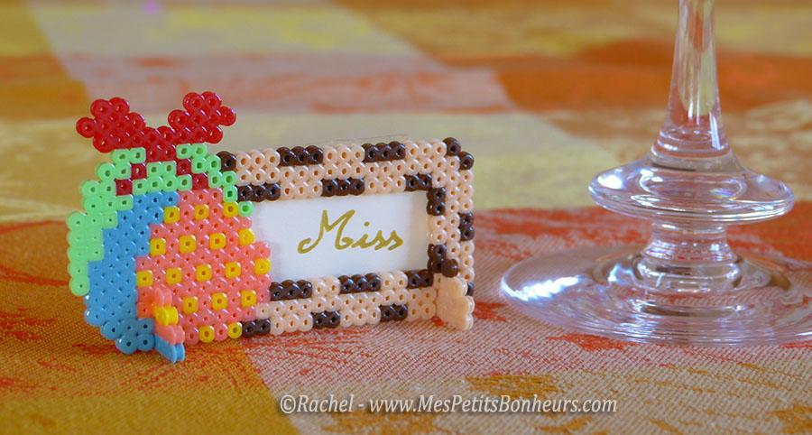 Marque places pour p ques activit en mini perles hama - Marque place noel pate a sel ...