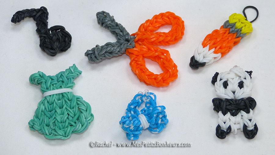 Petits objets en lastiques mod les propos s par elsa 12 ans - Comment faire les bracelet elastique ...
